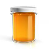 蜂蜜玻璃瓶子 免版税库存图片