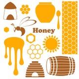 蜂蜜 库存例证