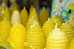 蜂蜡烛蜡 免版税库存图片