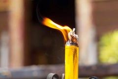蜂蜡蜡烛 免版税库存照片