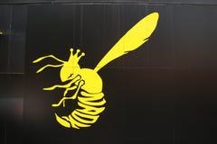 黄蜂钢板蜡纸艺术:新宿 免版税库存图片
