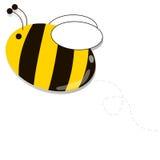 蜂飞行一点 免版税库存照片