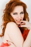 蜂鸟红头发人 图库摄影