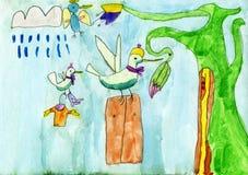 蜂鸟colibri一个他的家庭 向量例证