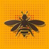 蜂,背景,例证 免版税库存照片