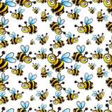 蜂Seamles背景传染媒介 免版税库存照片