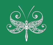 蜻蜓纹身花刺 图库摄影