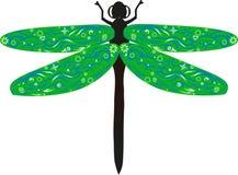 蜻蜓绿色 库存照片