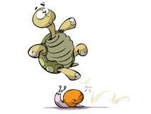 蜗牛乌龟 库存例证