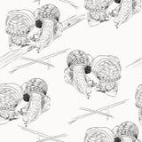 蜗牛剪影 库存图片