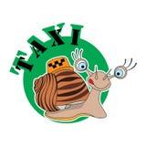 蜗牛商标出租汽车 库存照片
