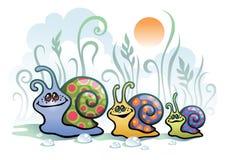 蜗牛在早晨 免版税库存照片