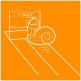 蜗牛奔跑商标 免版税图库摄影