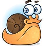 蜗牛微笑的漫画人物 图库摄影