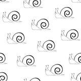 蜗牛无缝的样式 图库摄影