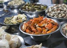 蜗牛街道食物在西贡 免版税库存照片