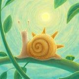 蜗牛非常那爱阳光 库存例证