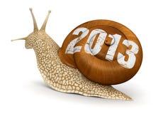 蜗牛2013年(包括的裁减路线) 库存照片