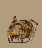 蜘蛛和例证 图库摄影