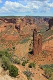 蜘蛛岩石在Canyon de Chelly 免版税库存图片