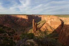 蜘蛛岩石, Canyon de Chelly国家历史文物 免版税库存图片