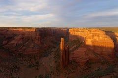蜘蛛岩石, Canyon de Chelly国家历史文物 库存图片