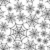 蜘蛛白色网无缝的样式 免版税库存照片