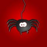 蜘蛛的万圣夜例证 库存图片
