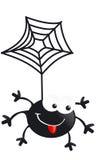 蜘蛛黑色微笑狂放的旅行红色 图库摄影