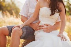 蜜月夫妇容忍 免版税库存图片