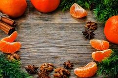 蜜桔和成份烘烤的 免版税库存照片