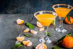蜜桔马蒂尼鸡尾酒玛格丽塔酒 库存图片