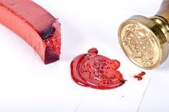 蜡封印和邮票 免版税库存图片