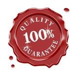 蜡封印质量保证 免版税图库摄影