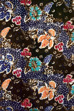 蜡染布做马来西亚纹理 免版税库存图片