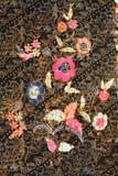 蜡染布做马来西亚纹理 免版税库存照片