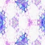 蜡染布分数维开花 向量例证