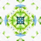 蜡染布分数维Blossom_1 皇族释放例证