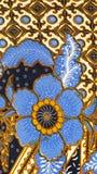 蜡染布印度尼西亚模式 免版税库存照片