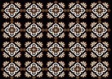 蜡染布印度尼西亚美好的装饰品样式 库存例证