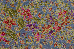 蜡染布模式,印度尼西亚 库存照片