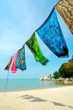 蜡染布海滩 免版税库存照片
