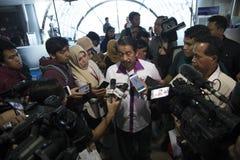 蜡染布空气印度尼西亚新闻招待会 库存图片