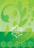 蜡染布绿色 图库摄影