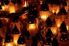 蜡烛为万灵日 库存照片