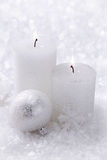 蜡烛二白色 库存照片