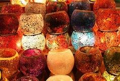蜡烛五颜六色的持有人 库存照片