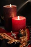蜡烛交叉金刚石珠宝 免版税库存图片
