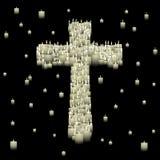 蜡烛交叉 免版税库存照片