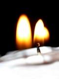 蜡烛光 免版税图库摄影